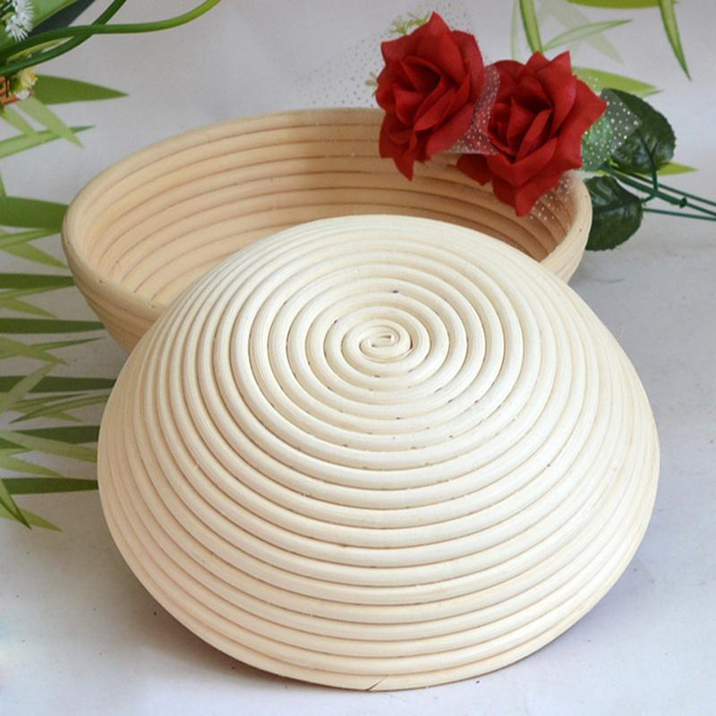 Round Natural Rattan Bread Fermentation Basket Countryside Style French Bread Mass Proofing Baskets Dough Banneton Baskets | The Brand Decò