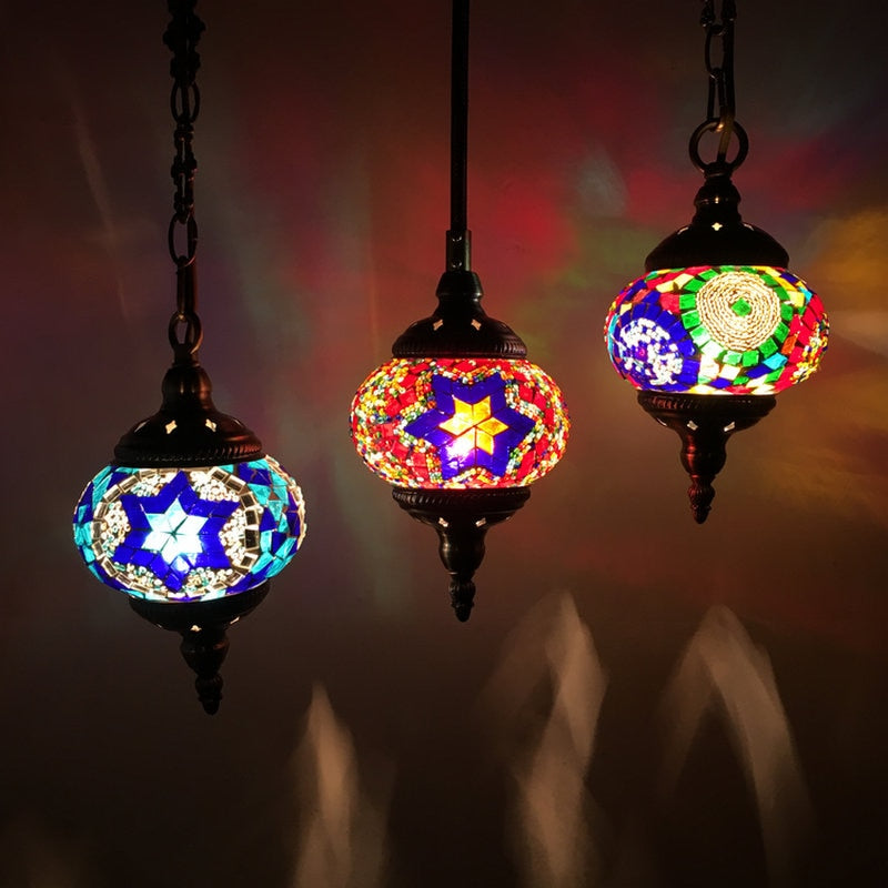 Turkish Mosaic Pendant Lamps Handmade | The Brand Decò