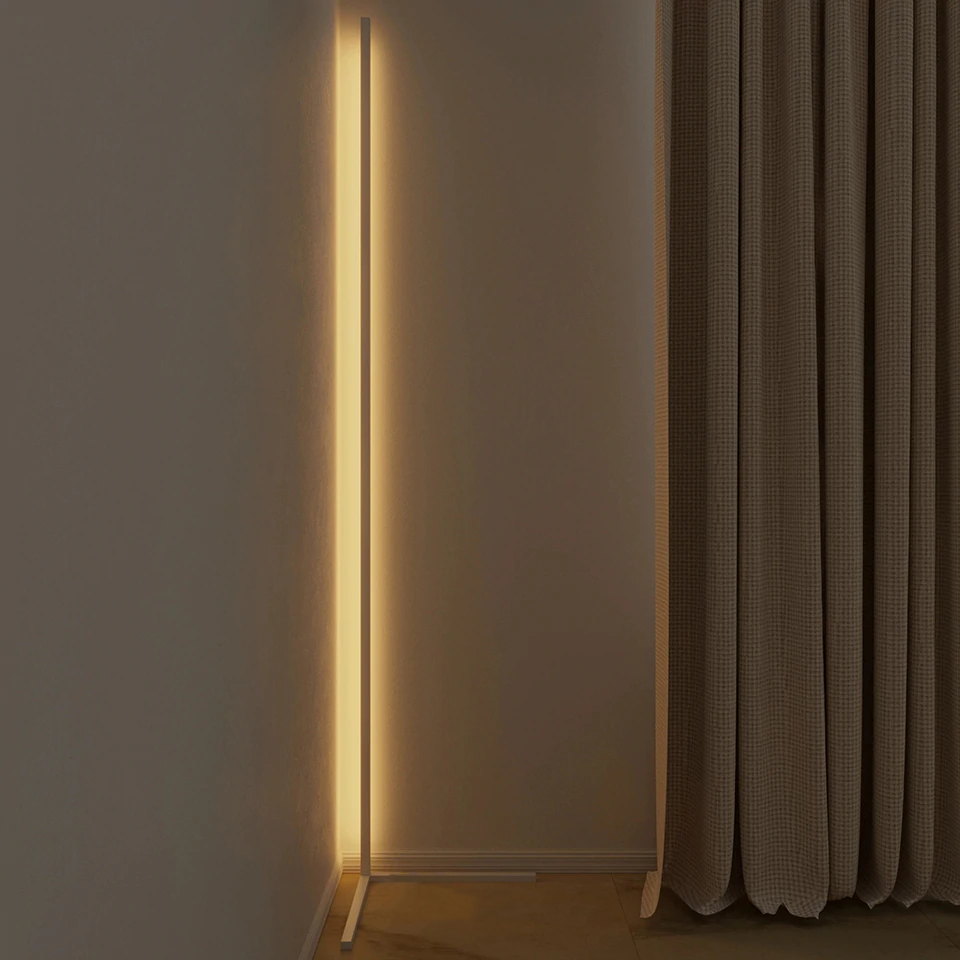 The Brand Decò Colorful Led Lamp | Minimalist LED Corner Floor Lamp | White Body | Warm White Dimming | The Brand Decò