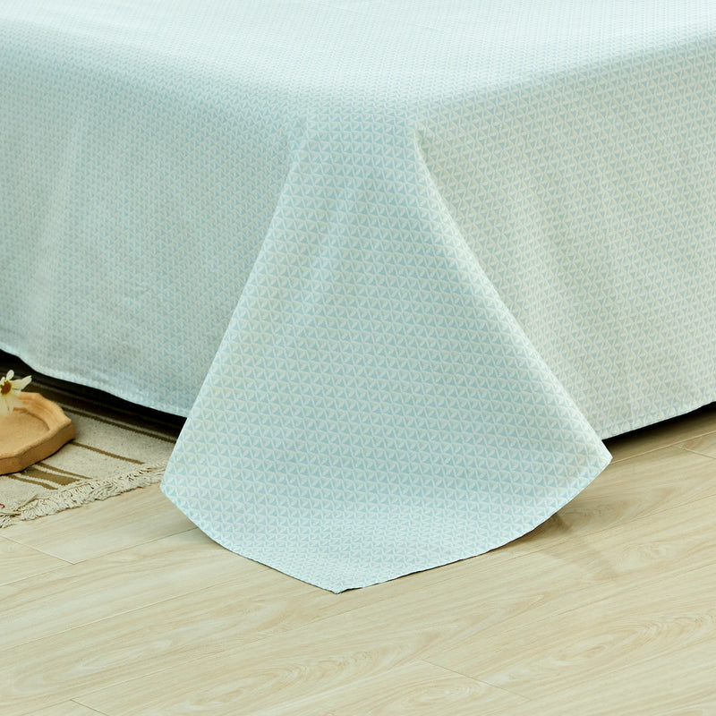 Cool Diamond Geometric Cotton Flat Sheet
