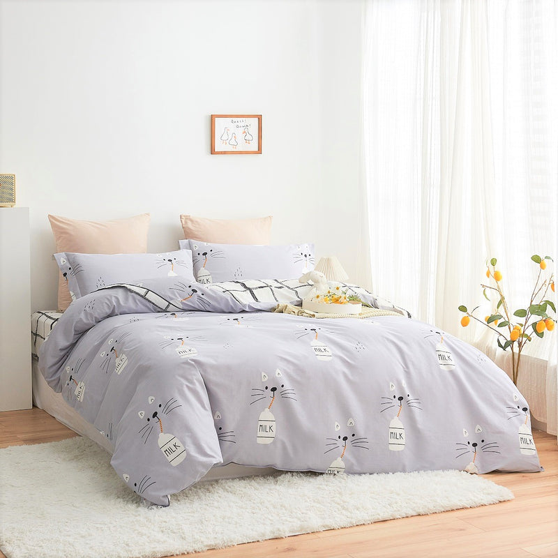 Jessie Cartoon Cotton Fitted Sheet Duvet Cover Set