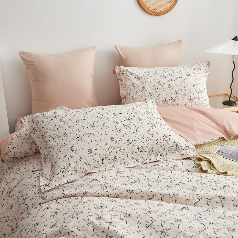 Gina Floral Cotton Bedskirt Duvet Cover Set