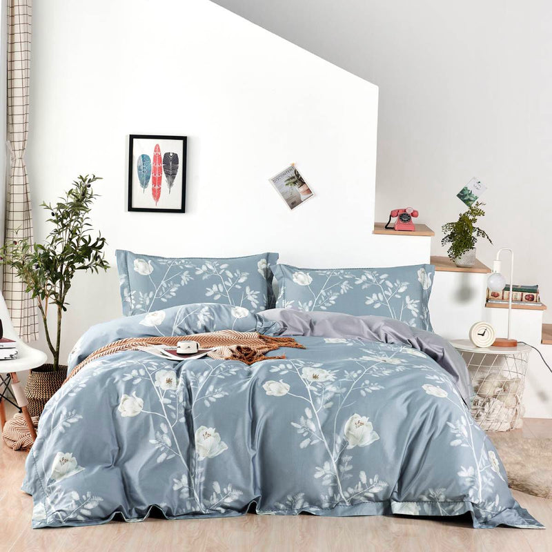 Beverly Floral Long Staple Cotton Bedspread Set