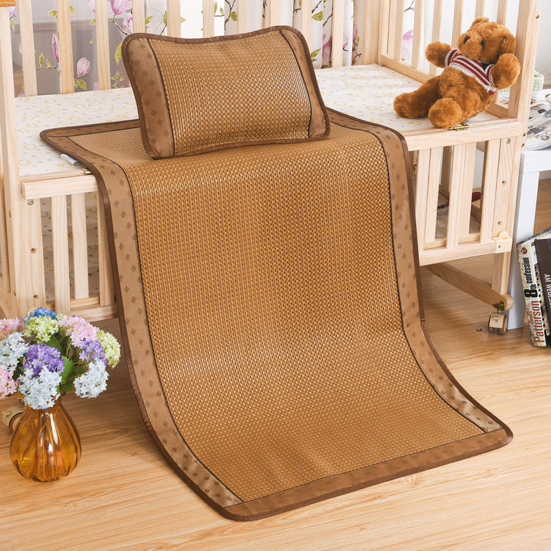 Baby Plaid Bing Si Rattan Mattress Topper Set