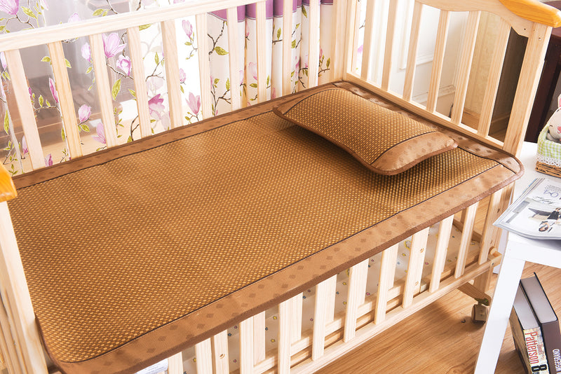 Baby Plaid Bing Si Rattan Summer Mattress Topper Set