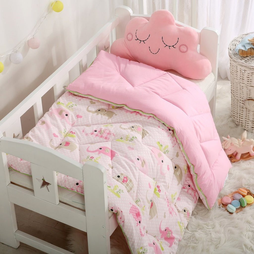 Baby Elephant Effie Cartoon Cotton All Season Comforter