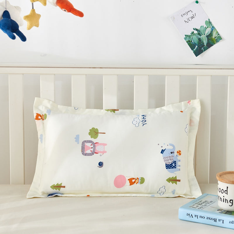 Baby Forest Party Cartoon Cotton Pillow Sham