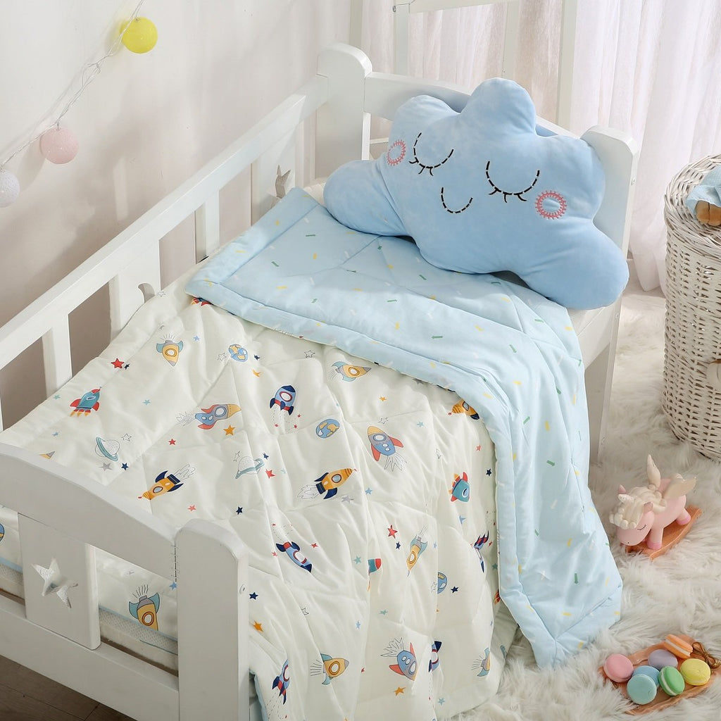 Baby Rocket Cartoon Cotton Light Comforter