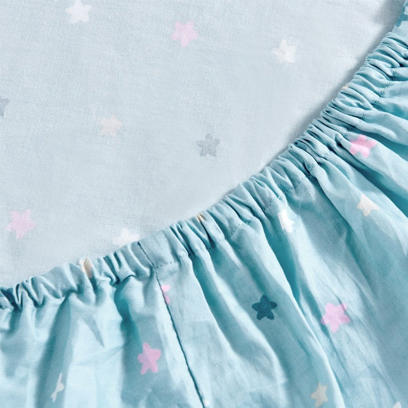 Baby Starry Sky Pattern Cotton Fitted Sheet