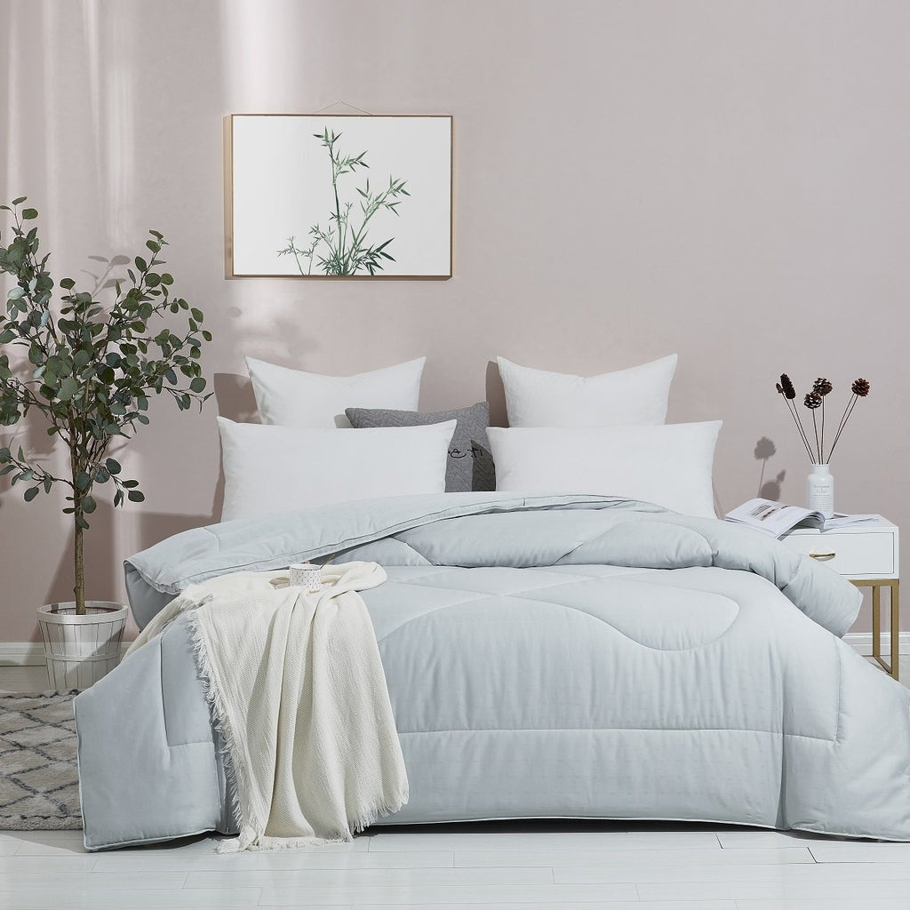 Plain Bamboo Charcoal All Season Duvet Insert