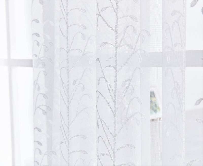 Blooming Fruits Floral Polyester Sheer Curtain