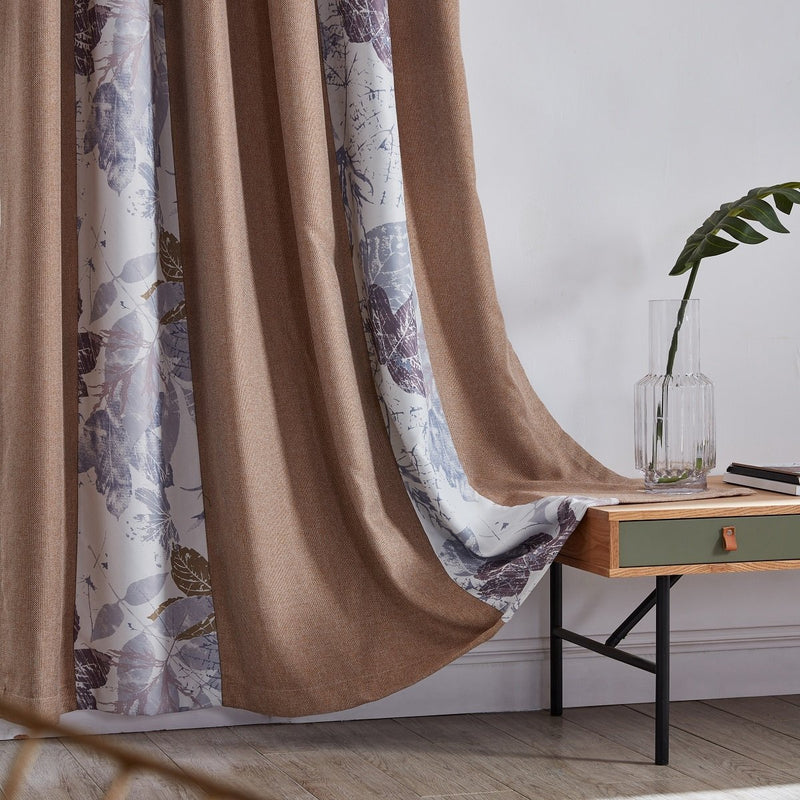 Blossom Shadow Floral Polyester Curtain