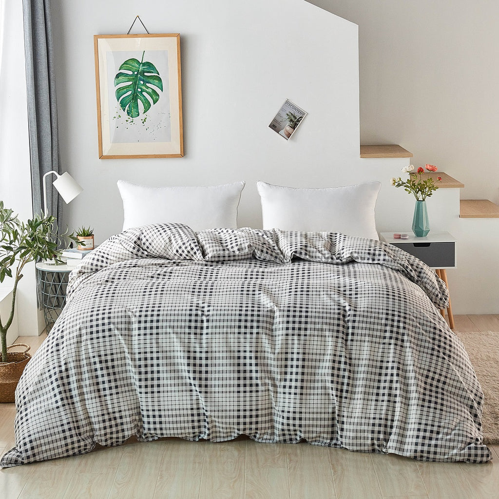 Brugger Grid Plaid Cotton Duvet Cover