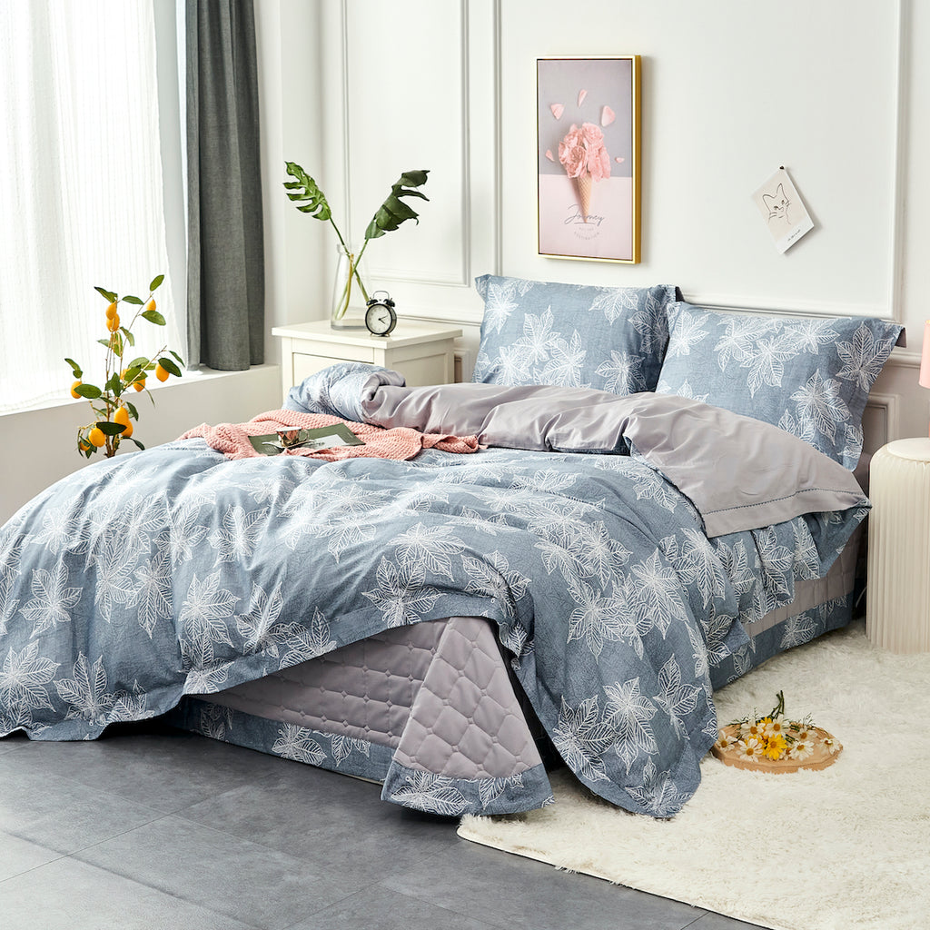 Cecilla Floral Long Staple Cotton Bedspread Set
