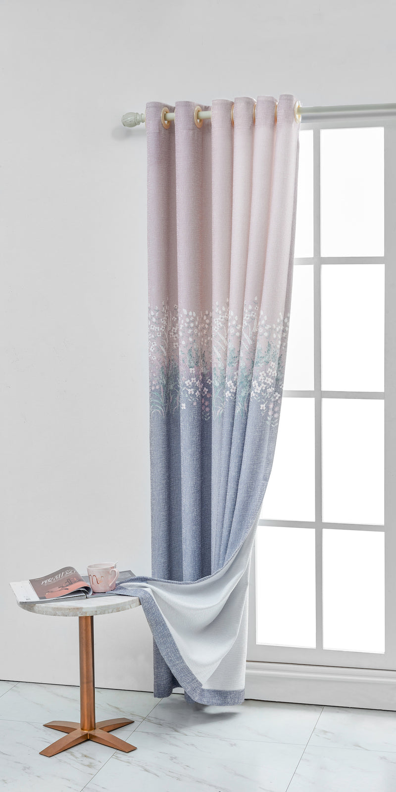 Romantic Gypsophila Floral Curtain