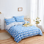 Diya Pattern Cotton Fitted Sheet Duvet Cover Set