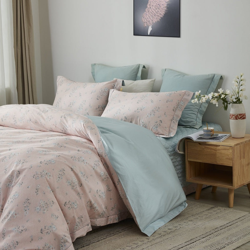 Elaine Floral Long Staple Cotton Bedspread Set