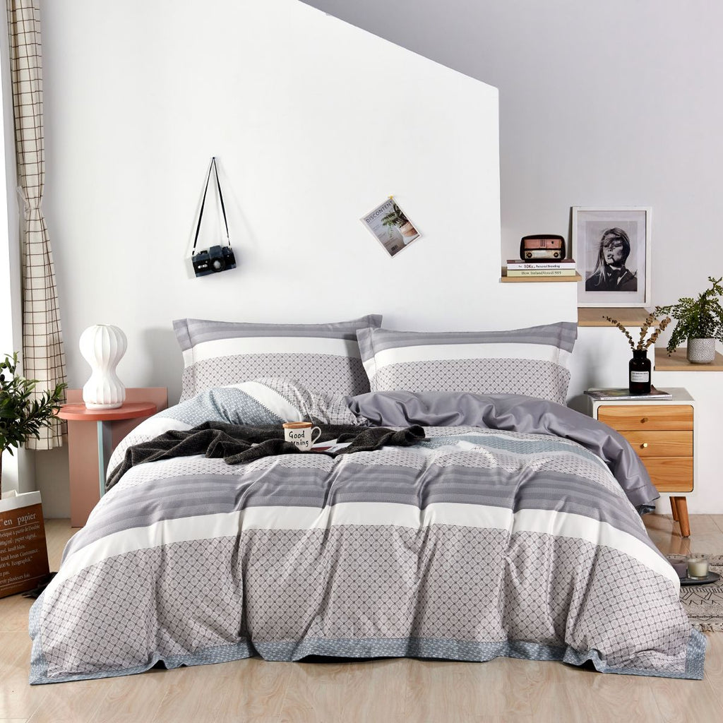 Eleanor Geometric Long Staple Cotton Bedspread Set