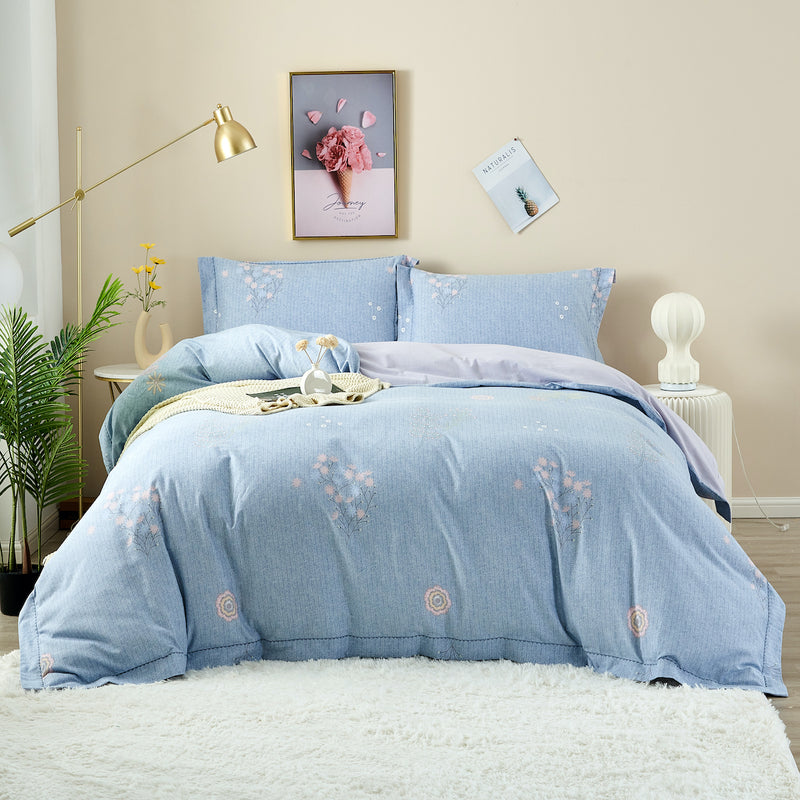 Evie Floral Brushed Cotton Fitted Sheet Set