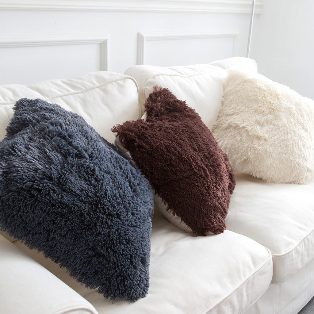 Faux Fur Decorative Pillowcase