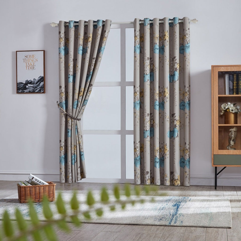 Flower Shadow floral Polyester Curtain