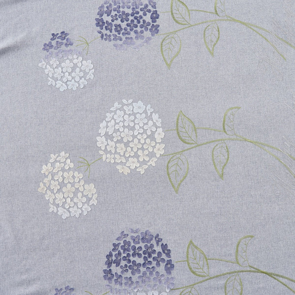 Flowers in Rain Floral Linen Curtain