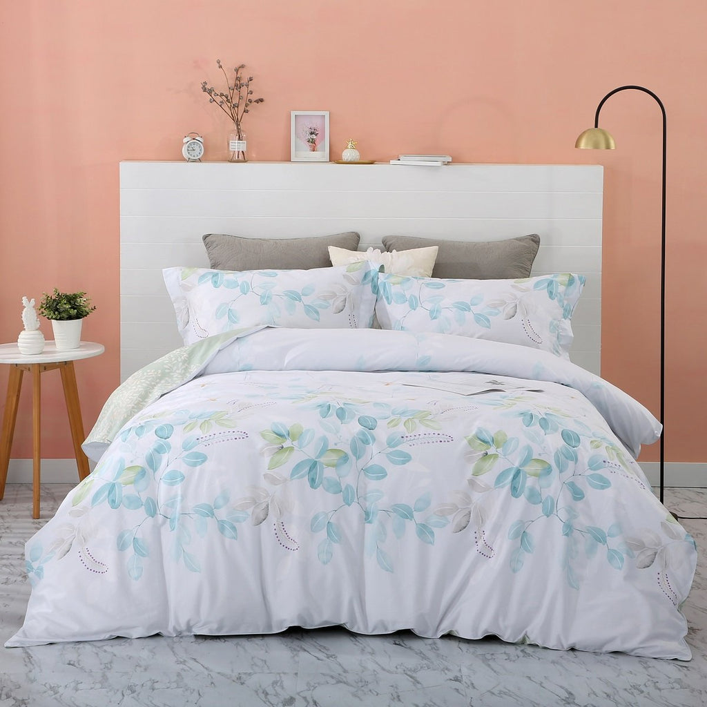 Forest floral Cotton Bedskirt Duvet Cover Set