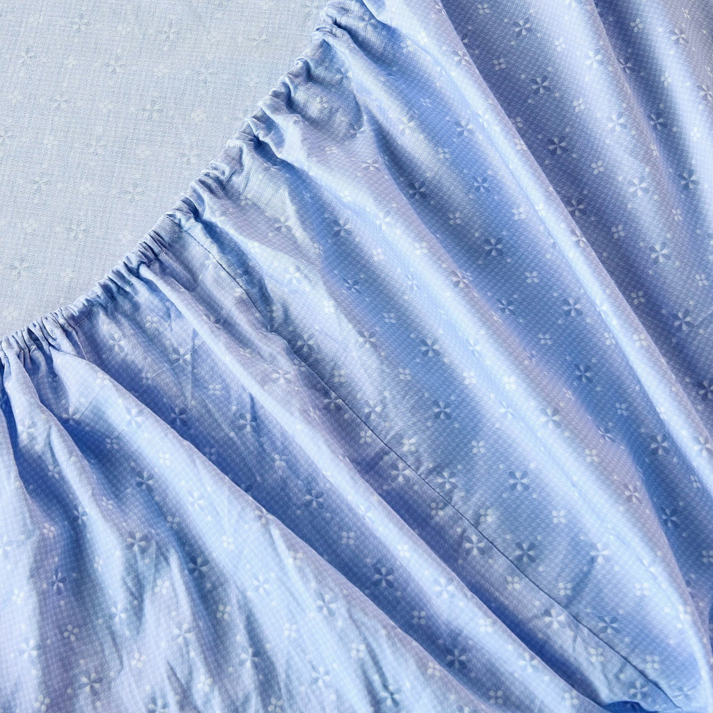 Ice Flower Pattern Cotton Fitted Sheet
