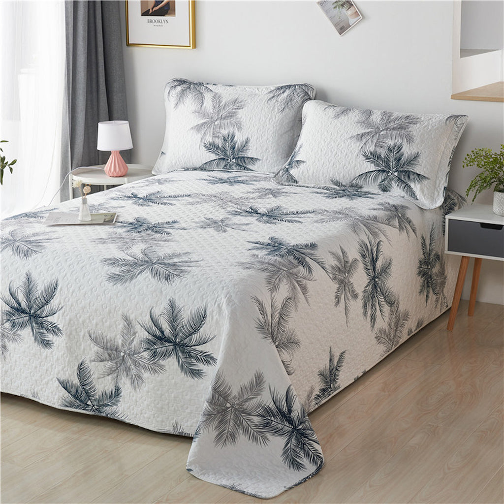 Lesley Floral Cotton Quilt Set