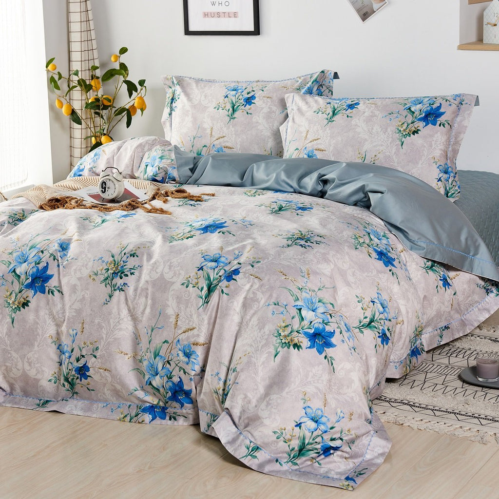 Madeline Floral Long Staple Cotton Bedspread Set
