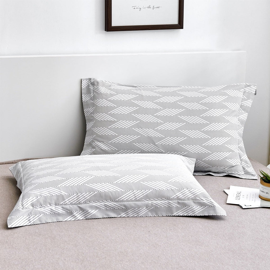 Mark Pattern Cotton Pillow Sham Set