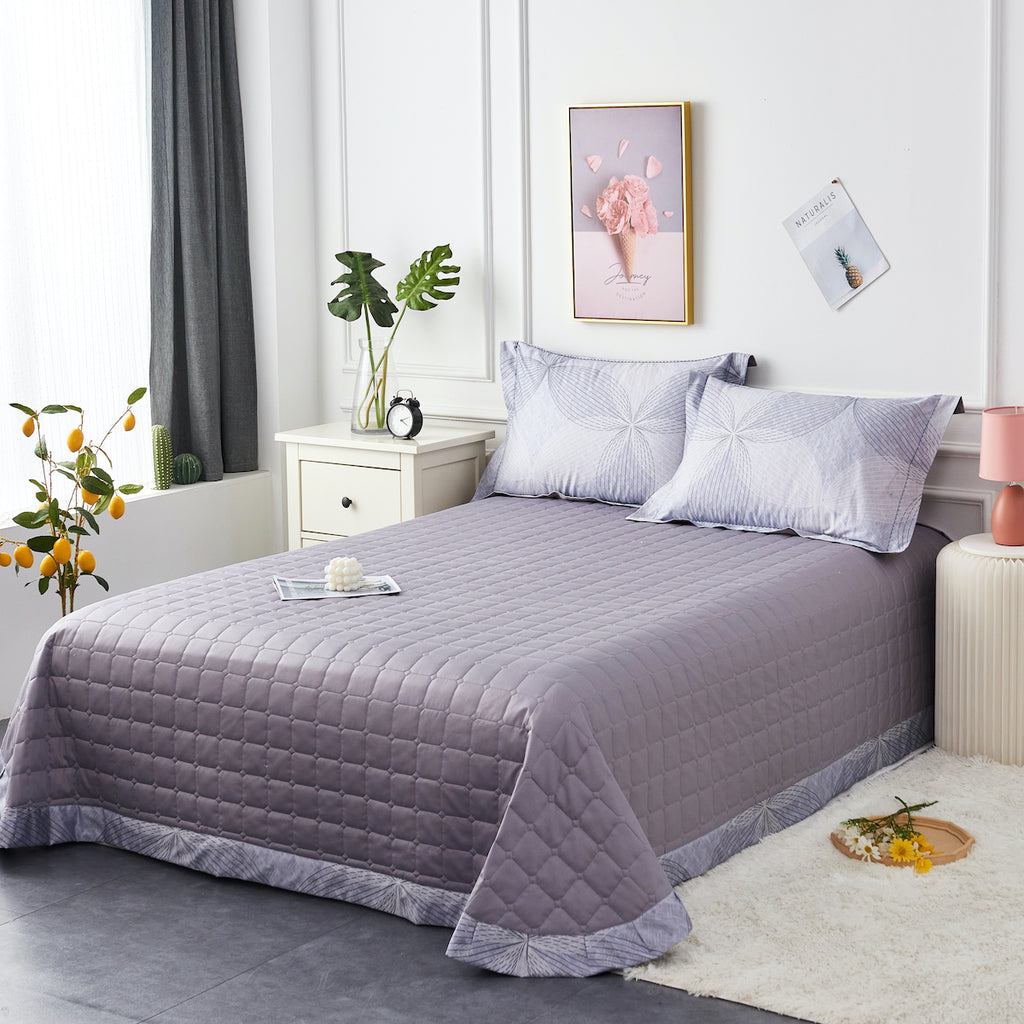 Milo Floral Long-Staple Cotton Bedspread Set