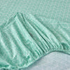 Minty Chevron Geometric Cotton Fitted Sheet