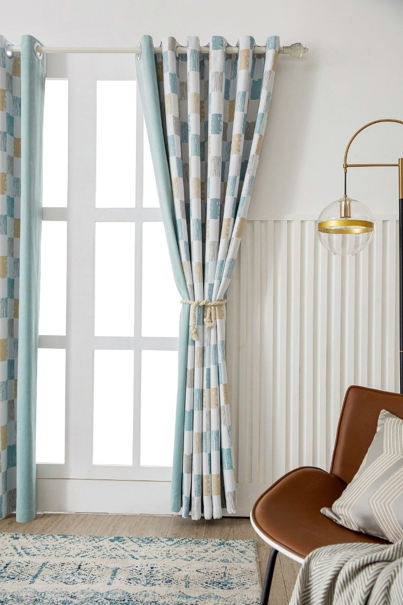 Moment Pattern Chenille Curtain - Two Panels