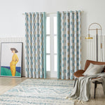 Moment Pattern Chenille Curtain, a pair