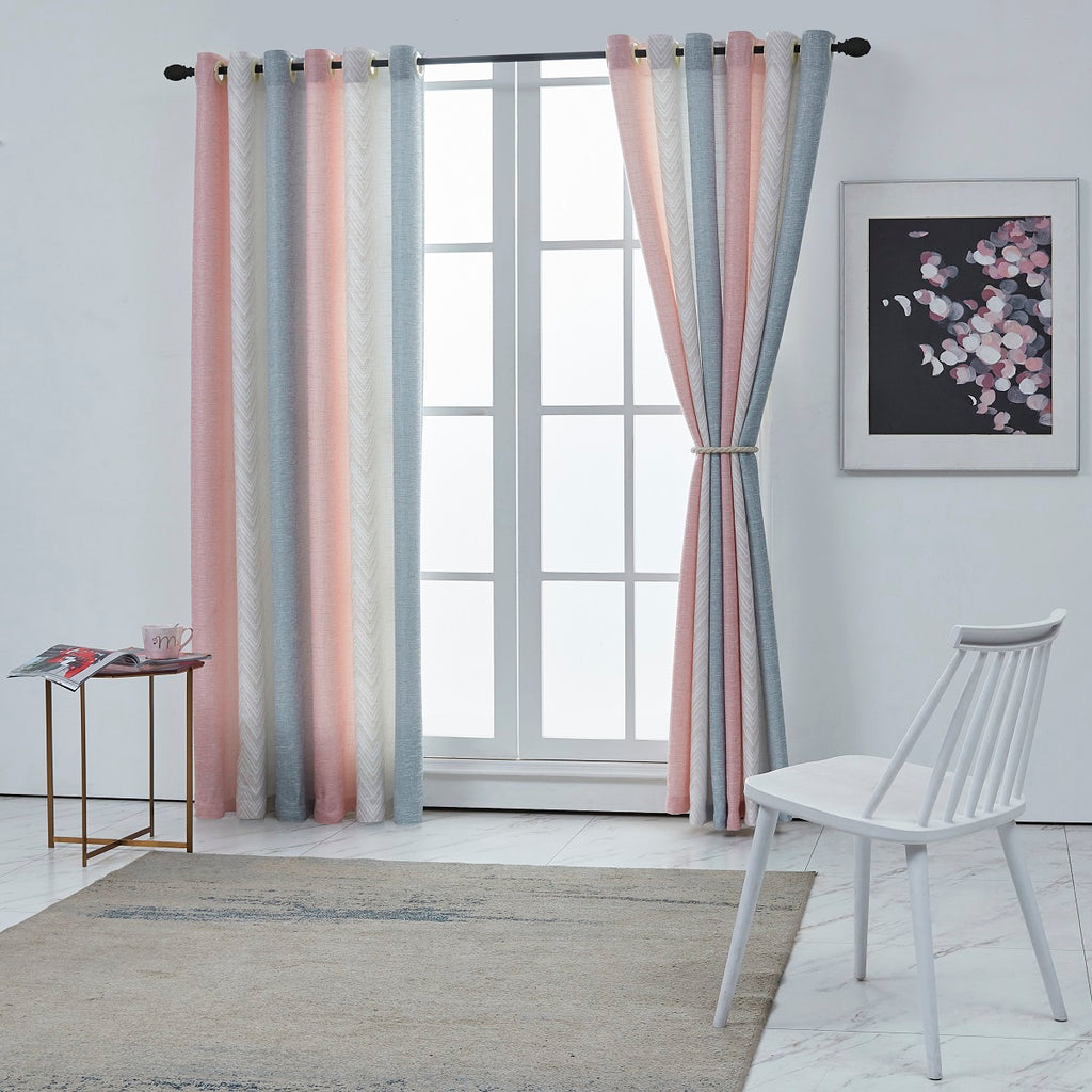Nordic Blush Multicolored Curtain