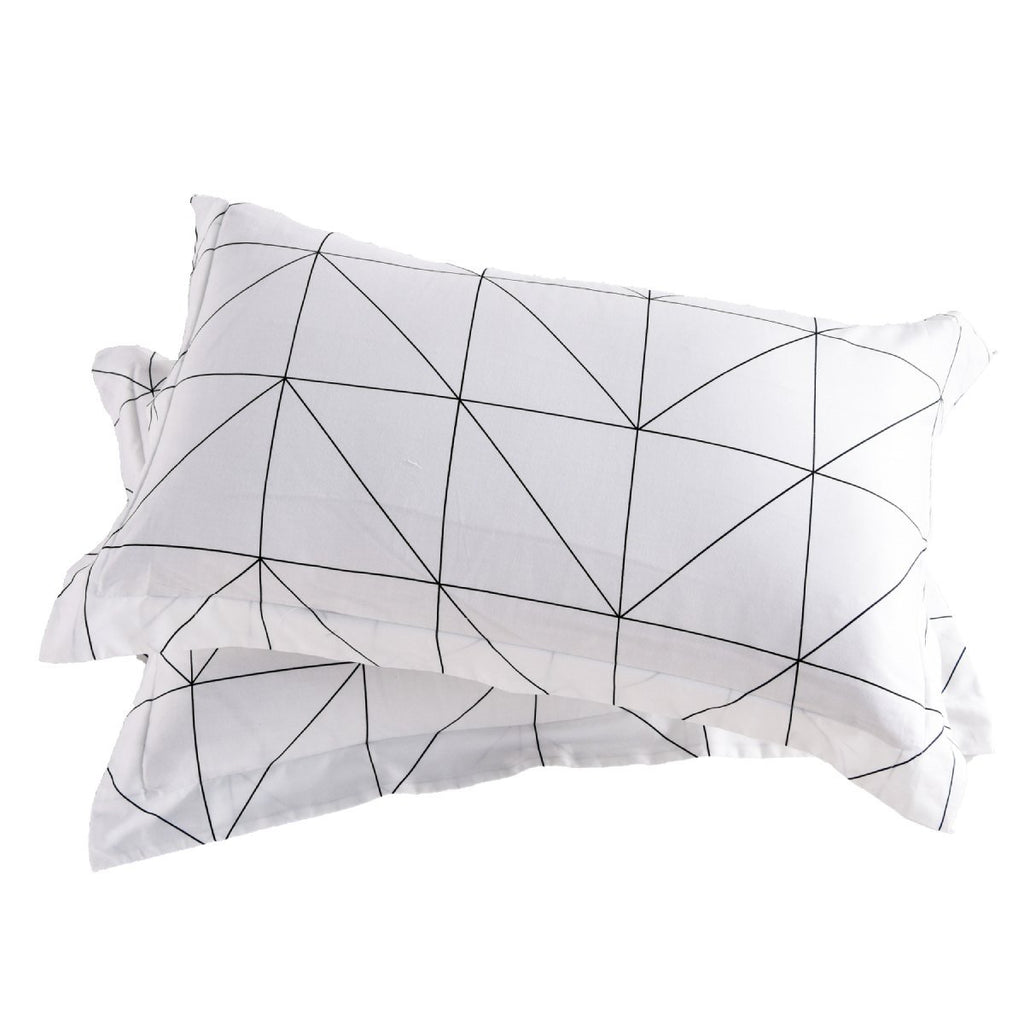 Nordic Geometric Cotton Pillow Sham Set