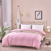 Pink Swirl Pattern Cotton Duvet Cover