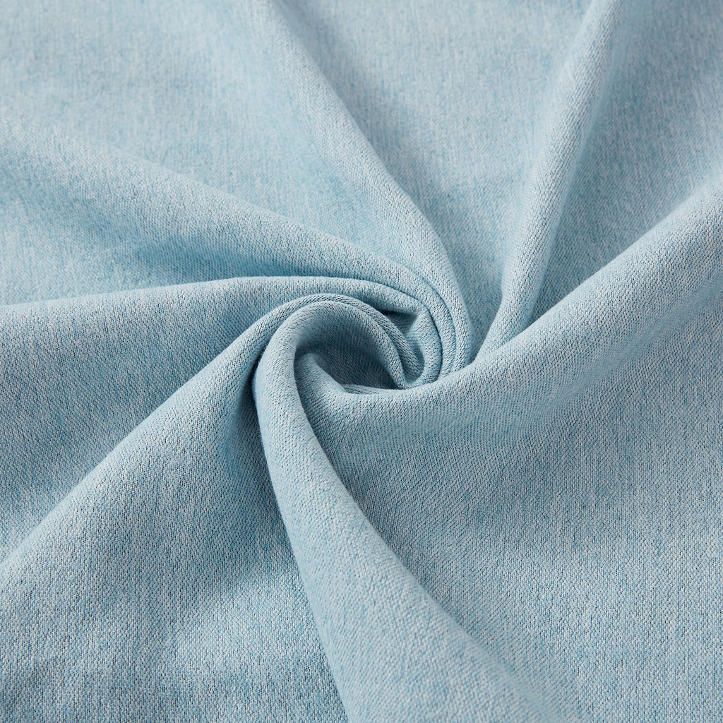 Solid Elegant Blue Polyester Curtain