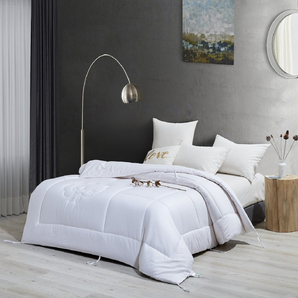 Solid White Cotton Filled Winter Duvet Insert