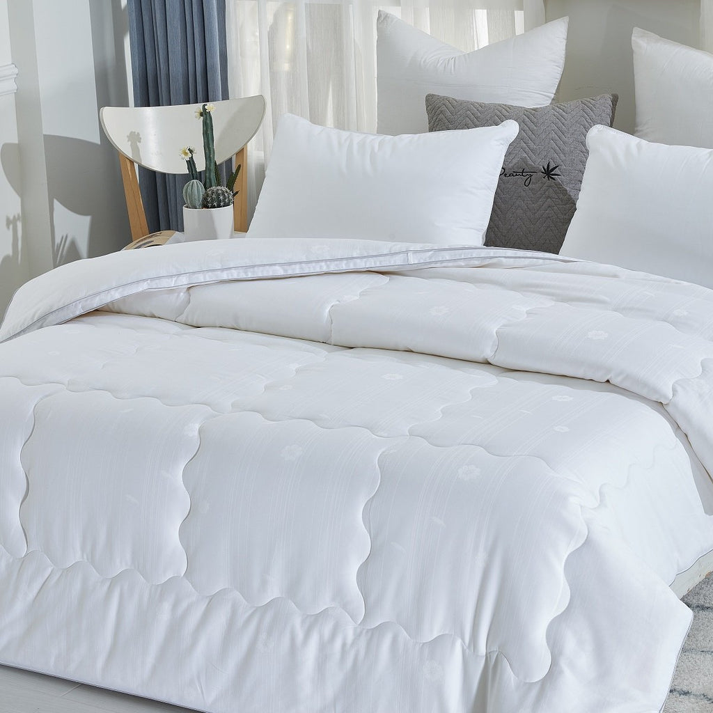 Solid White Soybean Fiber Winter Duvet Insert