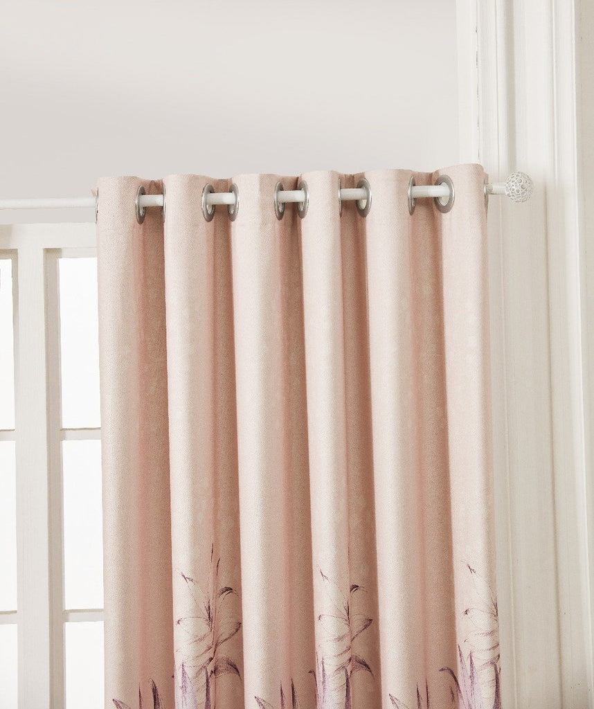 Spring Tango Floral Polyester Curtain