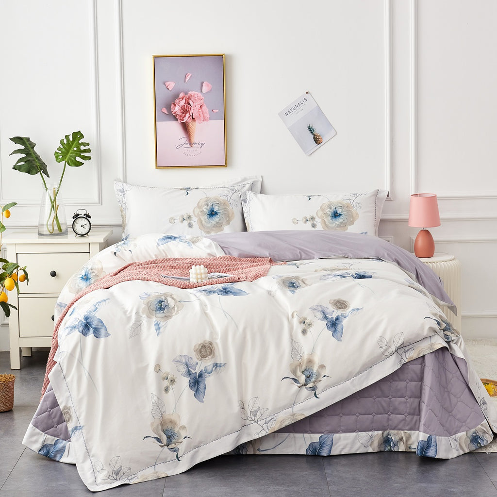 Tanya Floral Long-Staple Cotton Bedspread Set