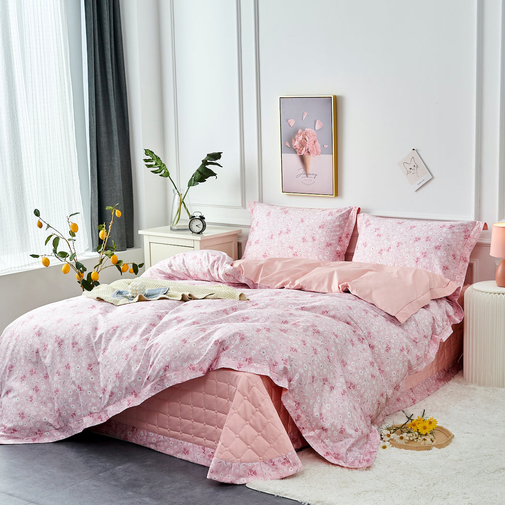 Yona Floral Long Staple Cotton Bedspread Set