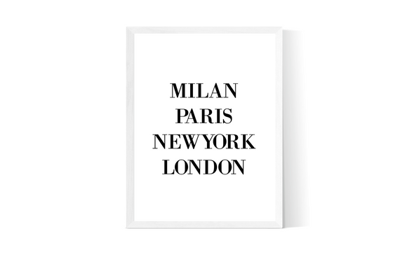 Milan Paris New York London