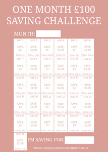 One Month £100 Saving Challenge - Free Printable