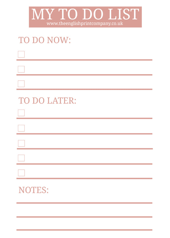 My To Do List - Free Printable