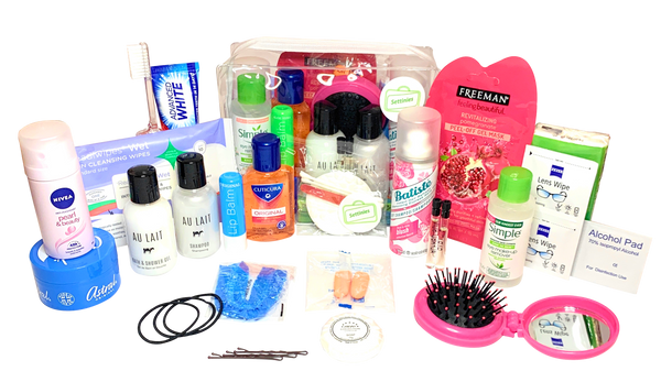 27 Items in 1 for Women Travel Toiletries Set by Settinies