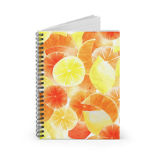 Load image into Gallery viewer, Spiral Notebook Ruled Line Orange Citrus