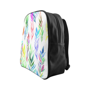 School Backpack Colorful Branches
